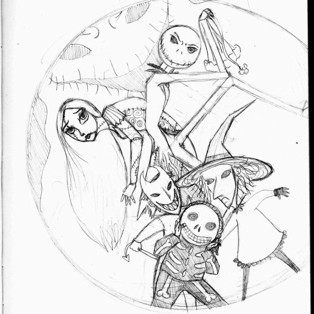 Nightmare Before Christmas Coloring Pages Printable With Book