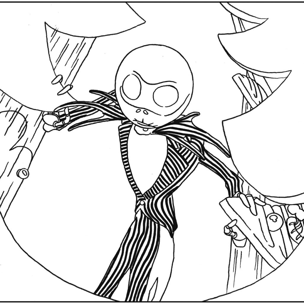 Nightmare Before Christmas Coloring Pages Printable With Fresh Jack Sheets For Kids