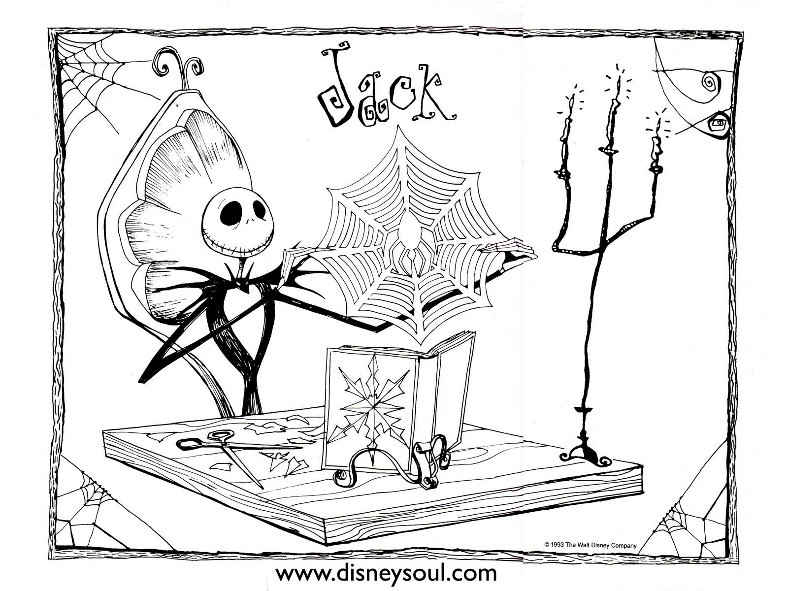 Nightmare Before Christmas Zero Coloring Pages With Disney Pinterest