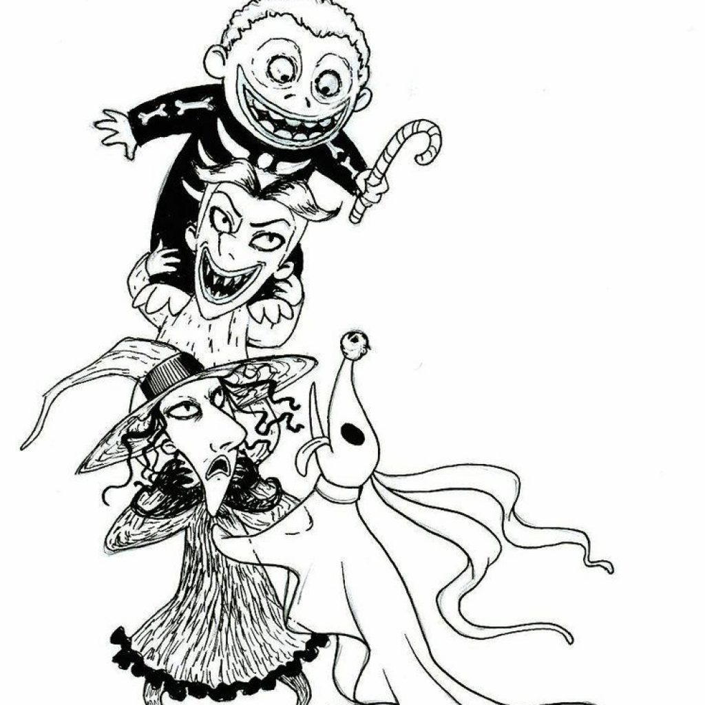 Nightmare Before Christmas Zero Coloring Pages With Page Book Pinterest