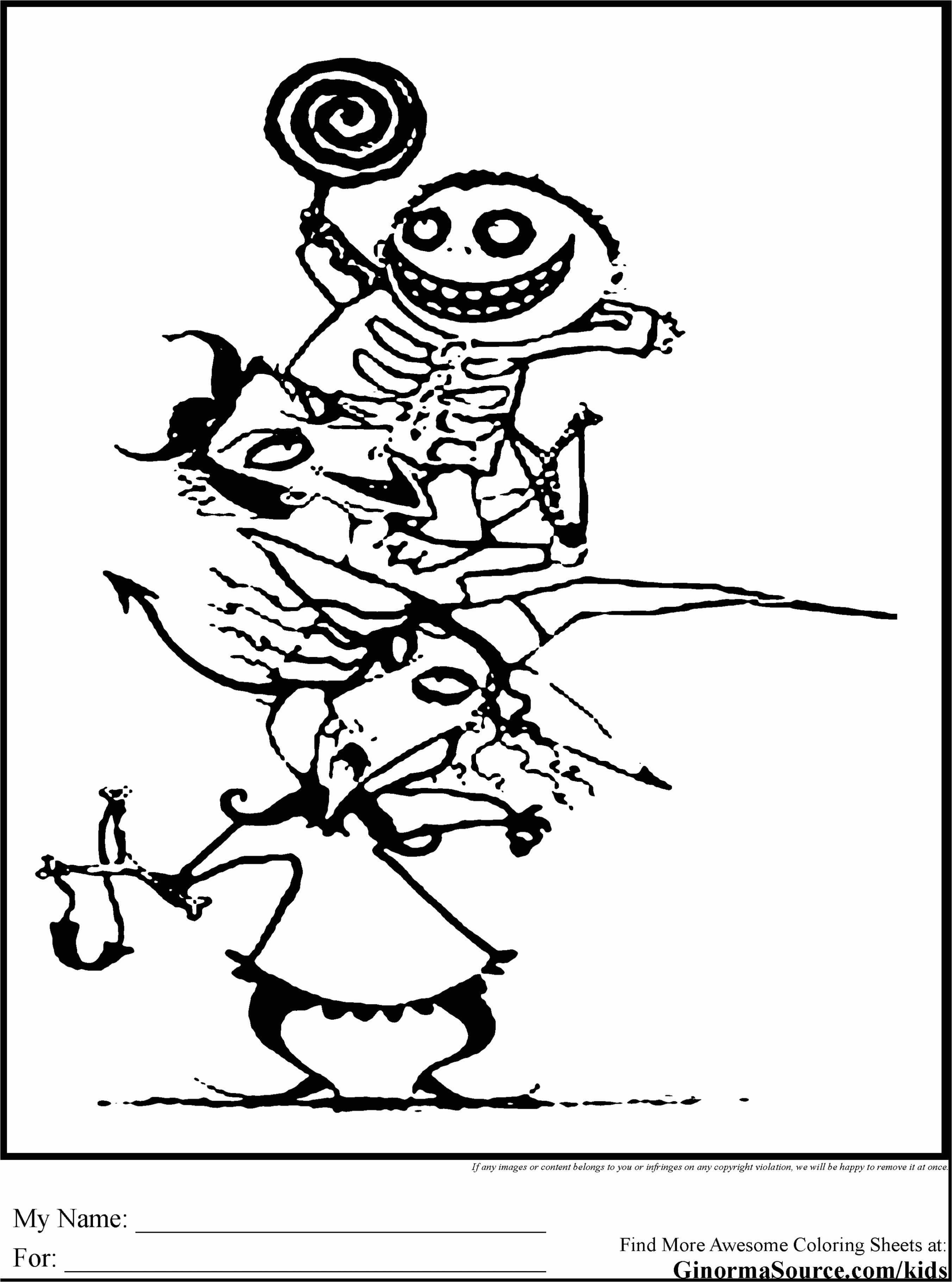 Nightmare Before Christmas Zero Coloring Pages With Sheets New Hocus Pocus