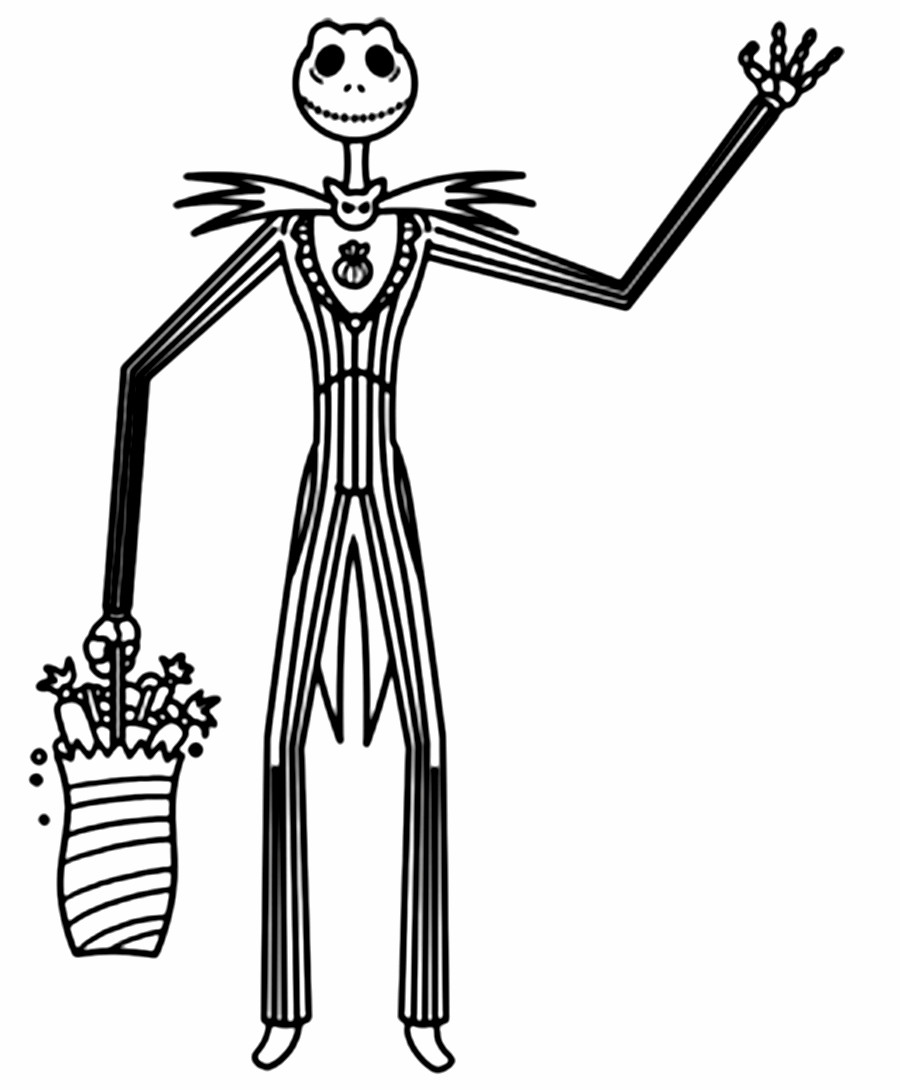 Nightmare Before Christmas Zero Coloring Pages With The 28 Collection Of