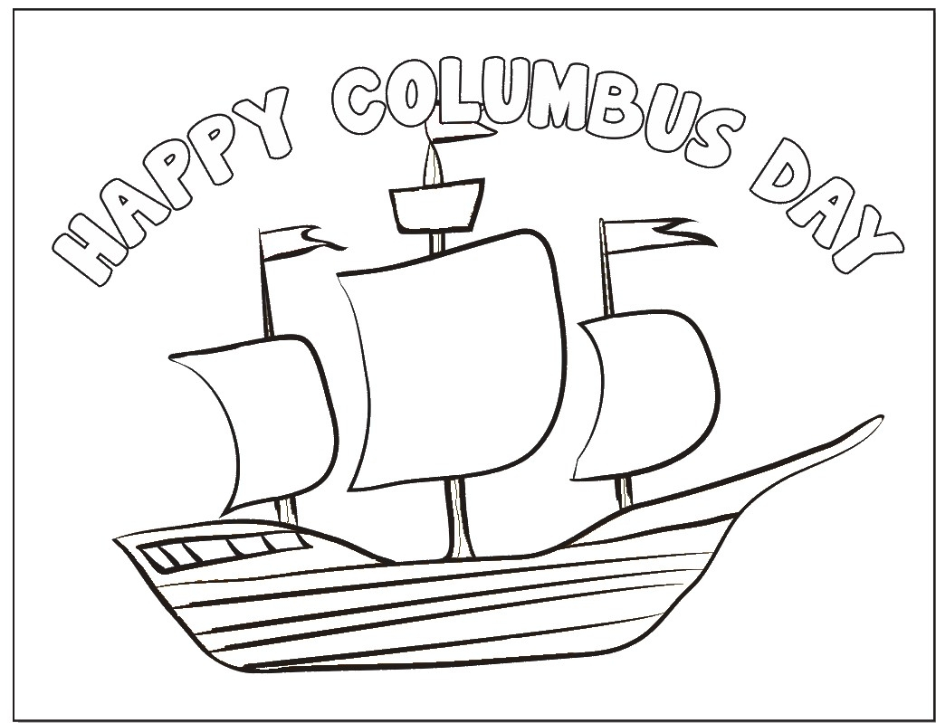 Nina Pinta Santa Maria Coloring Pages With Columbus Day