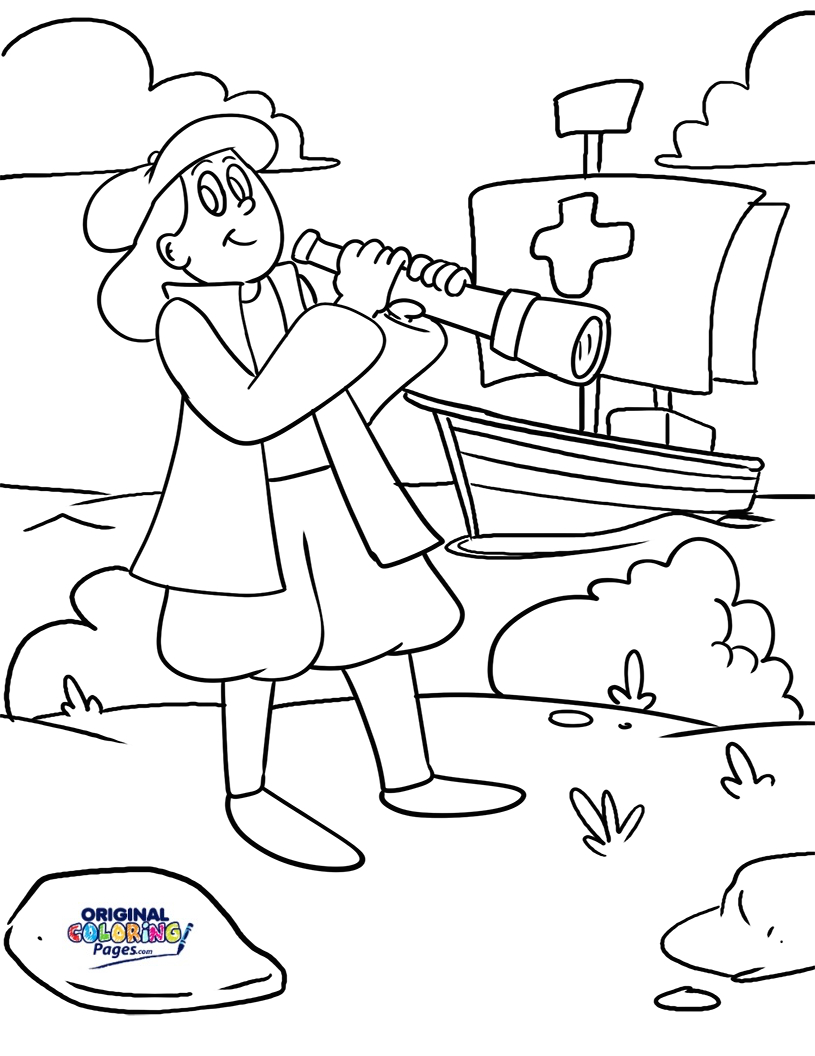 Nina Pinta Santa Maria Coloring Pages With Cool February 2017 Original