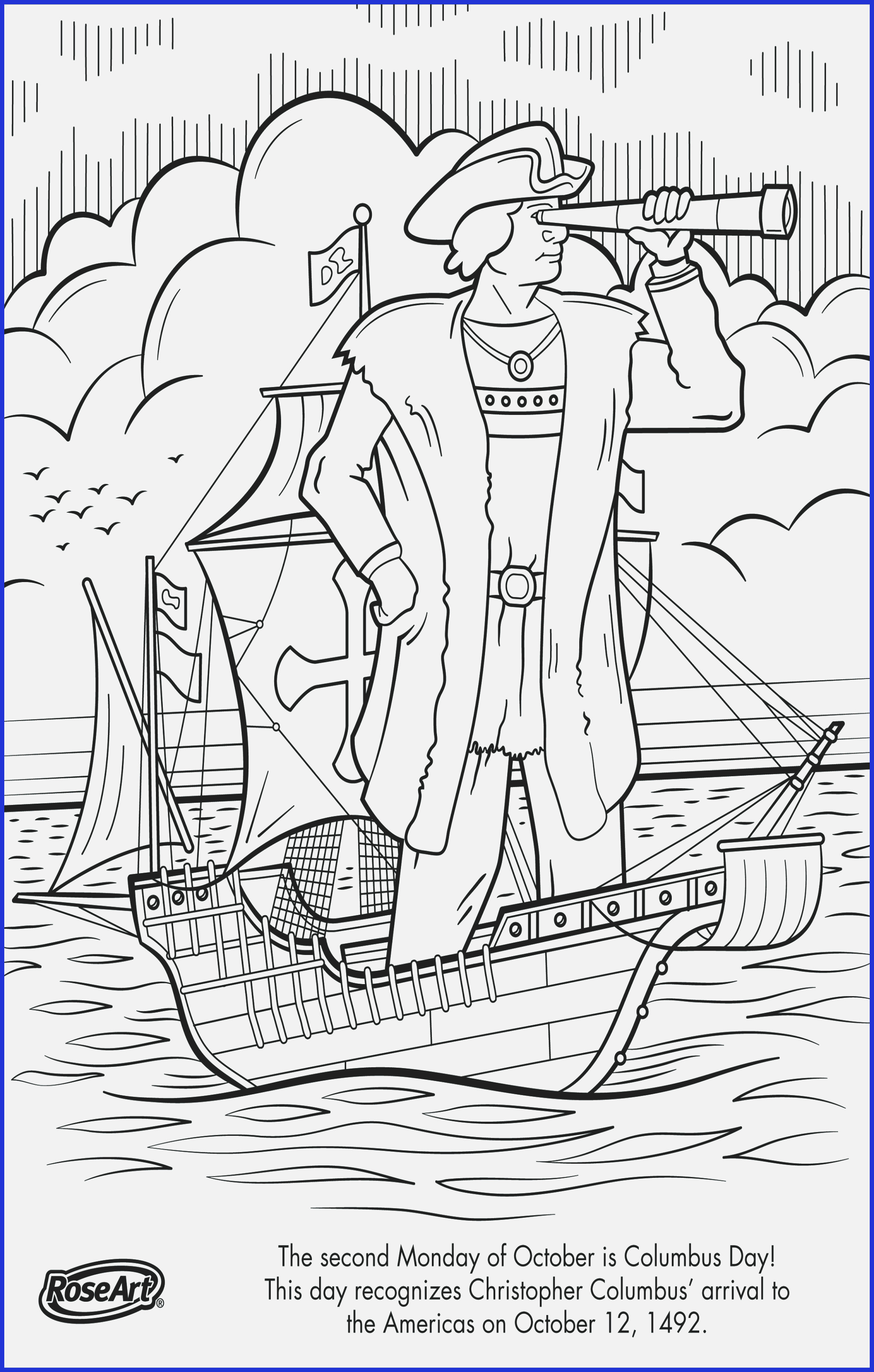 Nina Pinta Santa Maria Coloring Sheet With Chocolate Bar Page Christopher Columbus Pages