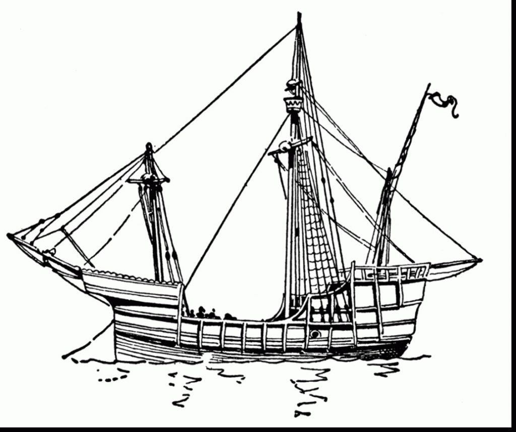 Nina Pinta Santa Maria Coloring Sheet With Exploit Christopher Columbus Ships Pages Helpful Of The