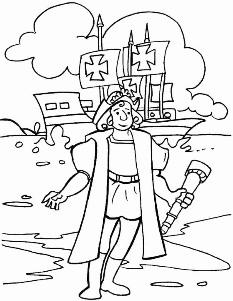 Nina Pinta Santa Maria Coloring Sheet With Pages Christopher Columbus Page