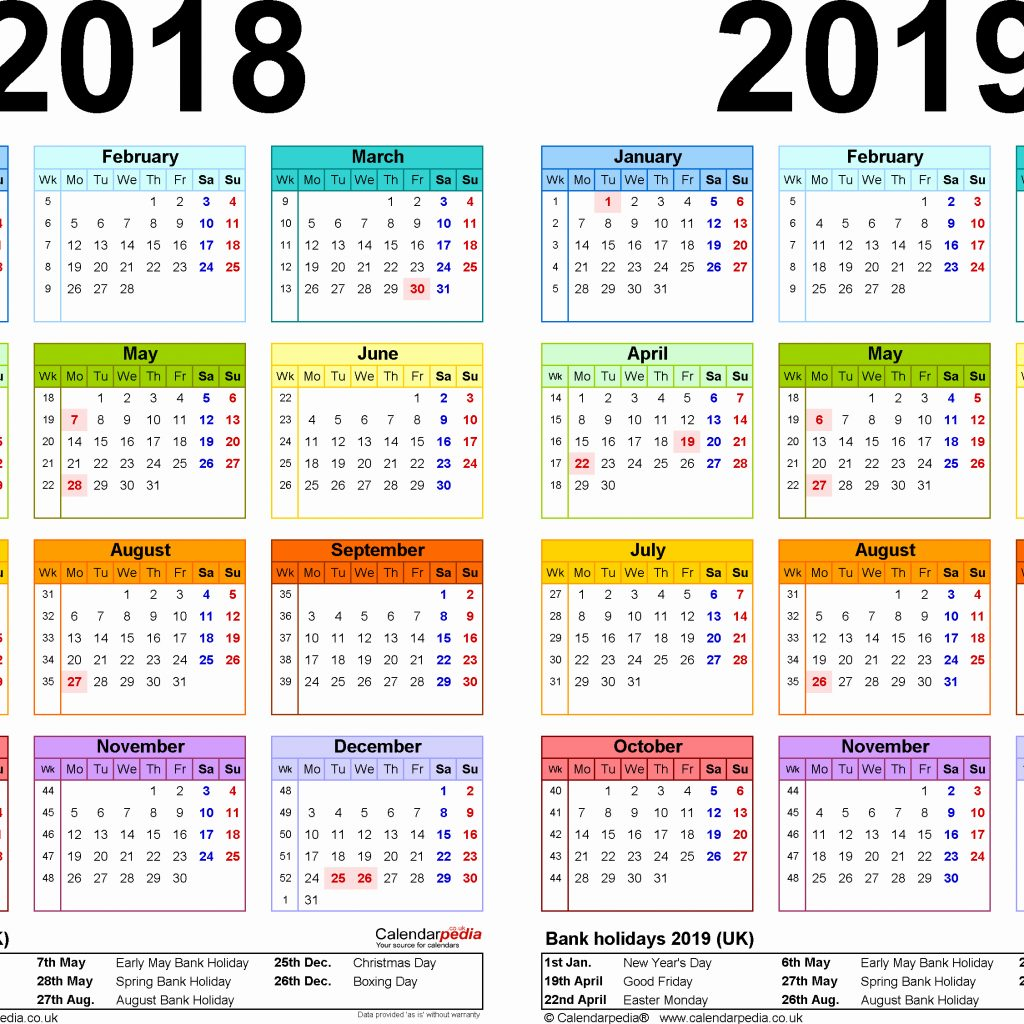 one-year-calendar-2019-printable-with-yearly-2018-two-calendars-for