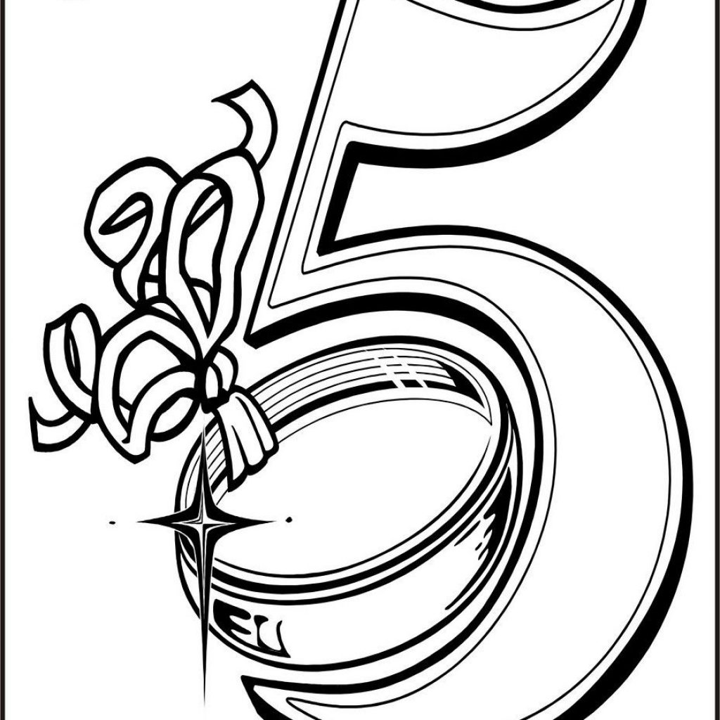 Printable 12 Days Of Christmas Coloring Pages With Five Golden Rings Page Embroideries