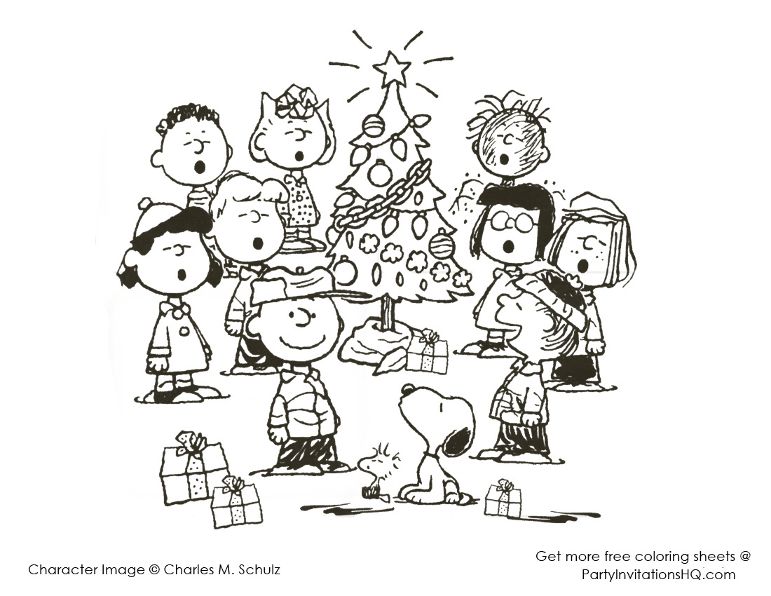 Printable Charlie Brown Christmas Coloring Pages With 28 Collection Of Snoopy High Quality