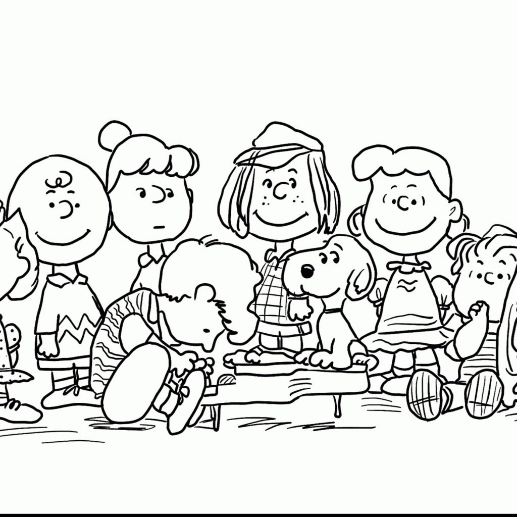 Printable Charlie Brown Christmas Coloring Pages With Awesome Collection Free For