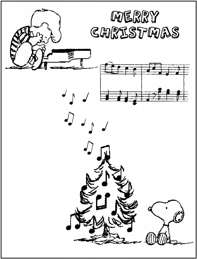 Printable Charlie Brown Christmas Coloring Pages With Free For Kids
