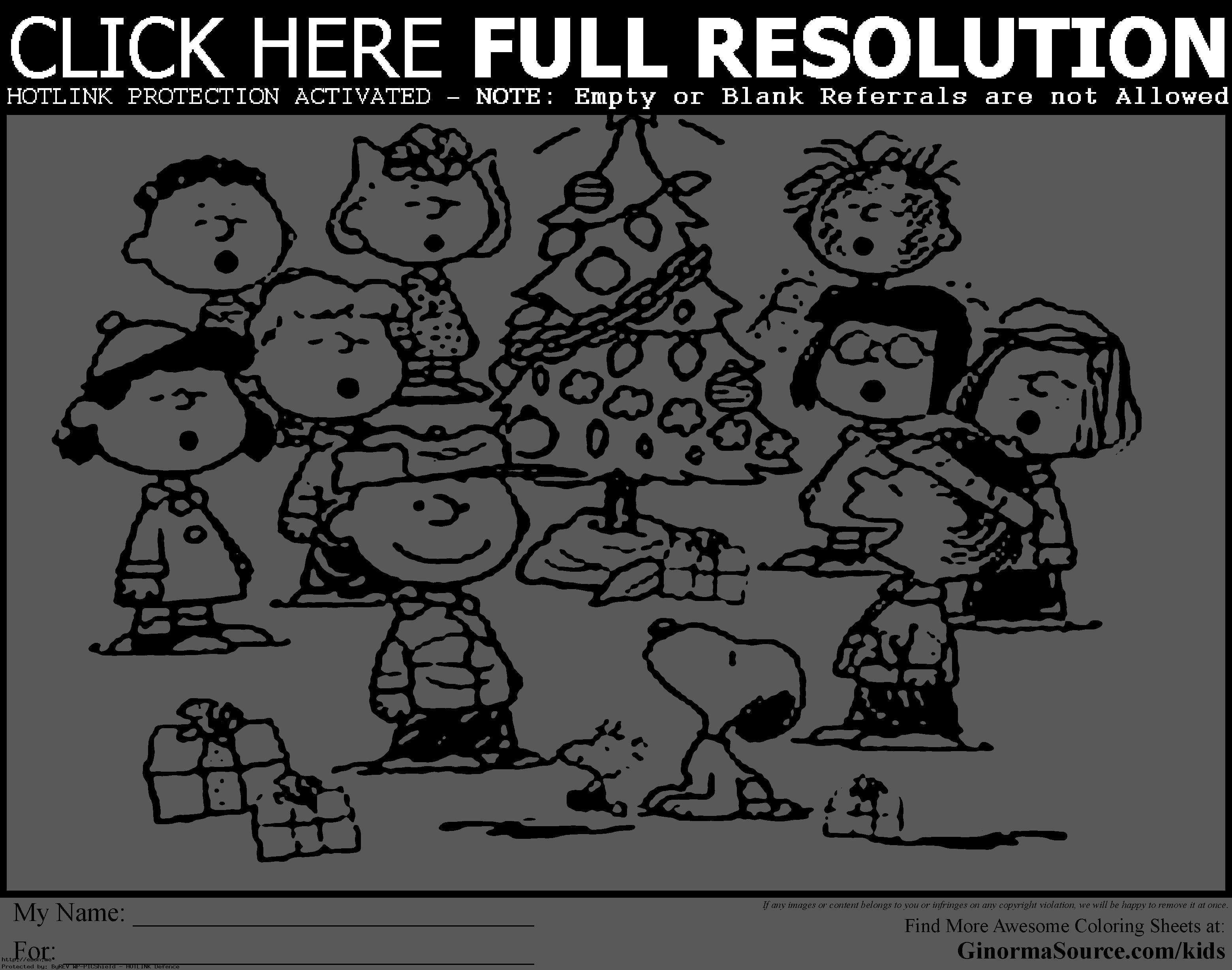 Printable Charlie Brown Christmas Coloring Pages With Free