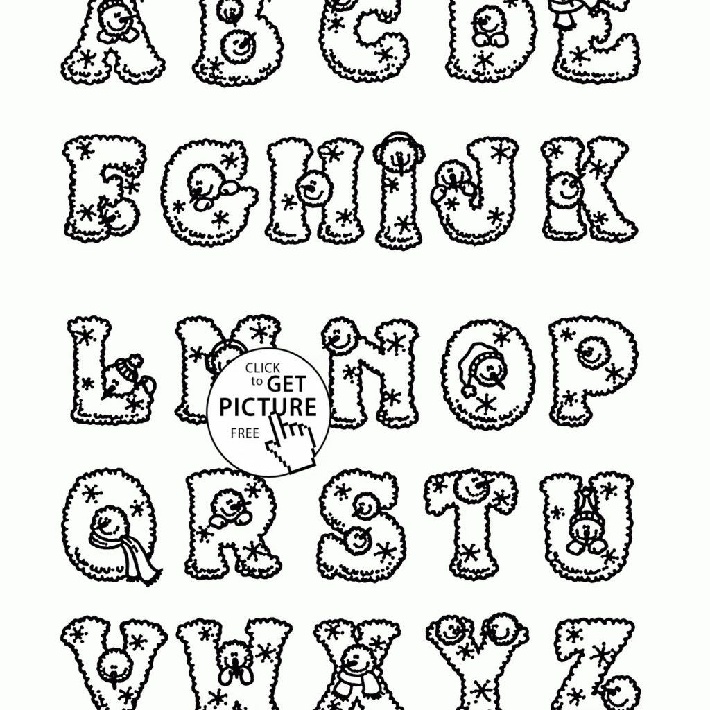 Printable Christmas Alphabet Coloring Pages With Free Archives Juan Com