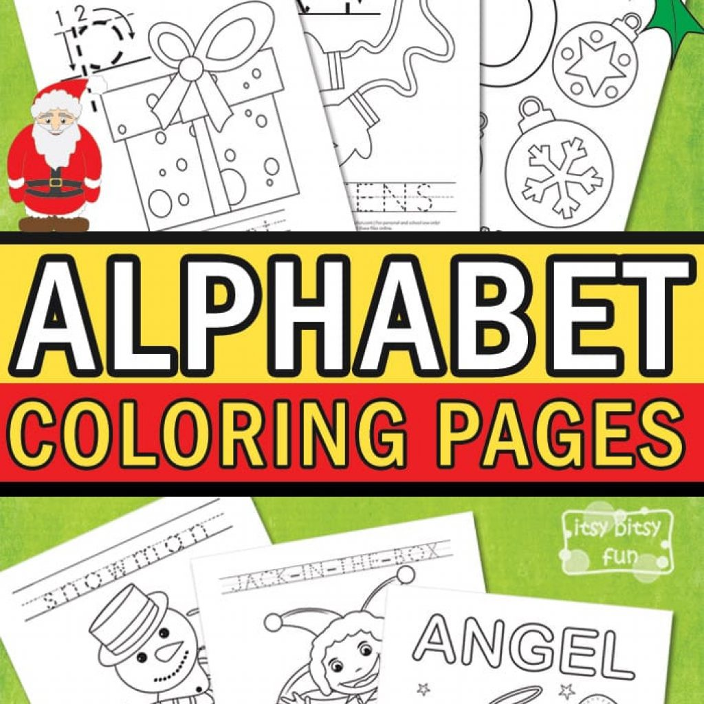 Printable Christmas Alphabet Coloring Pages With Itsy Bitsy Fun