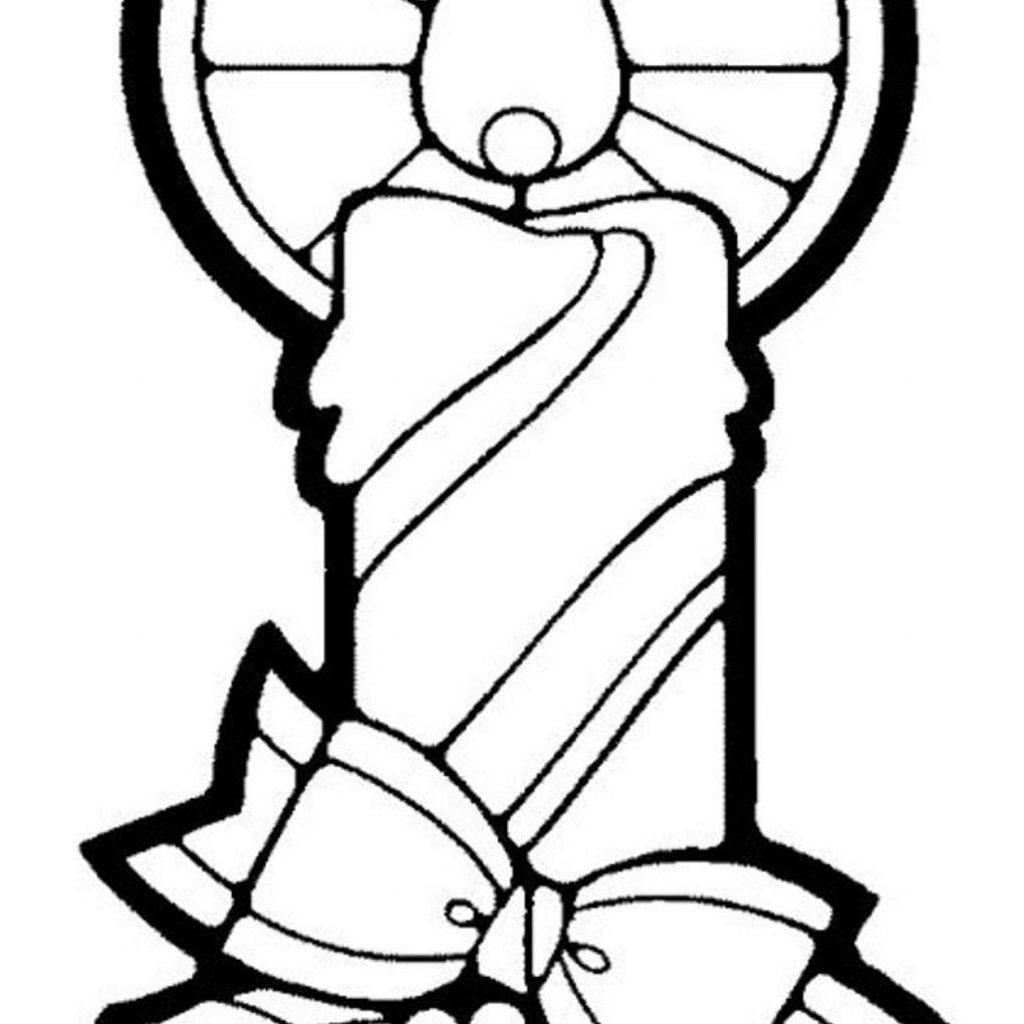 Printable Christmas Candles Coloring Pages With Candle Free Sda44