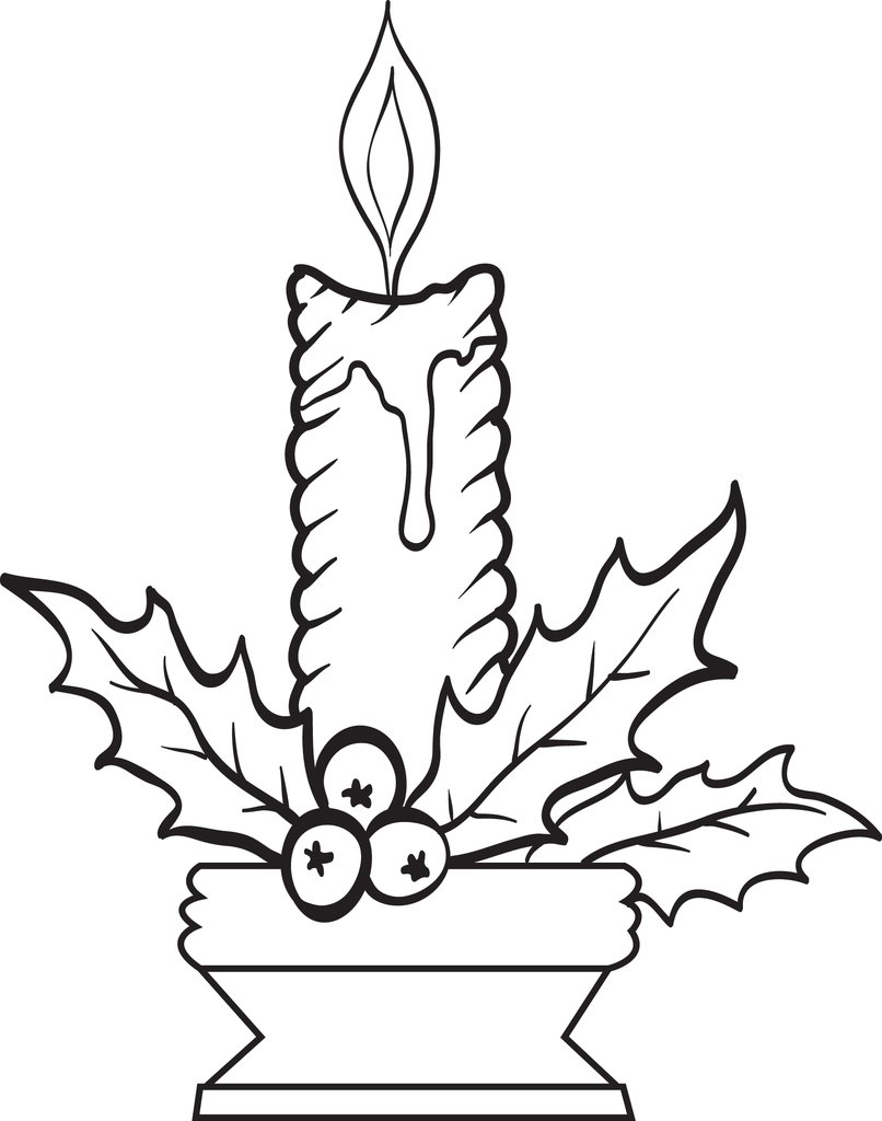 Printable Christmas Candles Coloring Pages With FREE Page For Kids 3 SupplyMe