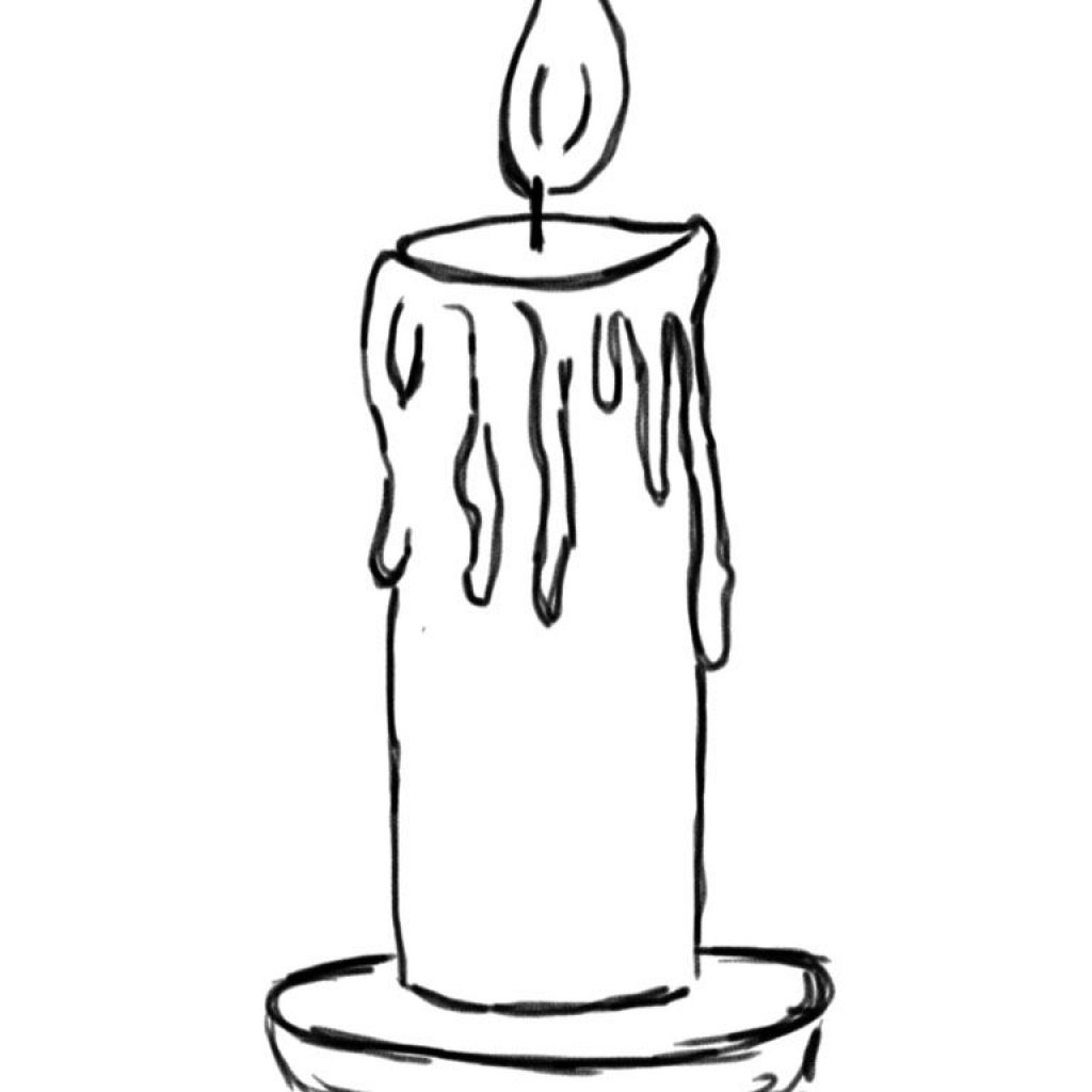 Printable Christmas Candles Coloring Pages With Of 107 Holiday Pinterest
