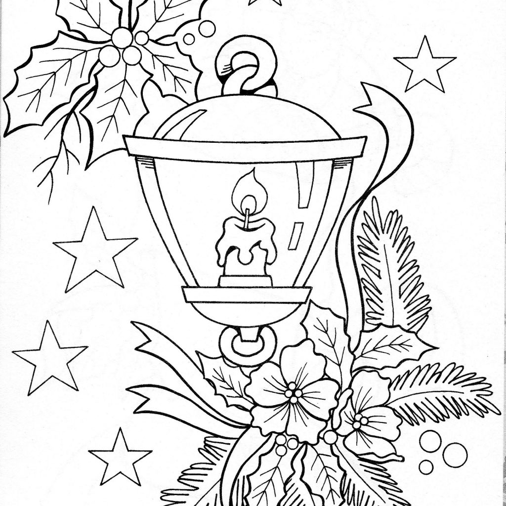 Printable Christmas Candles Coloring Pages With Printables And Embroidery CHRISTMAS COLORING