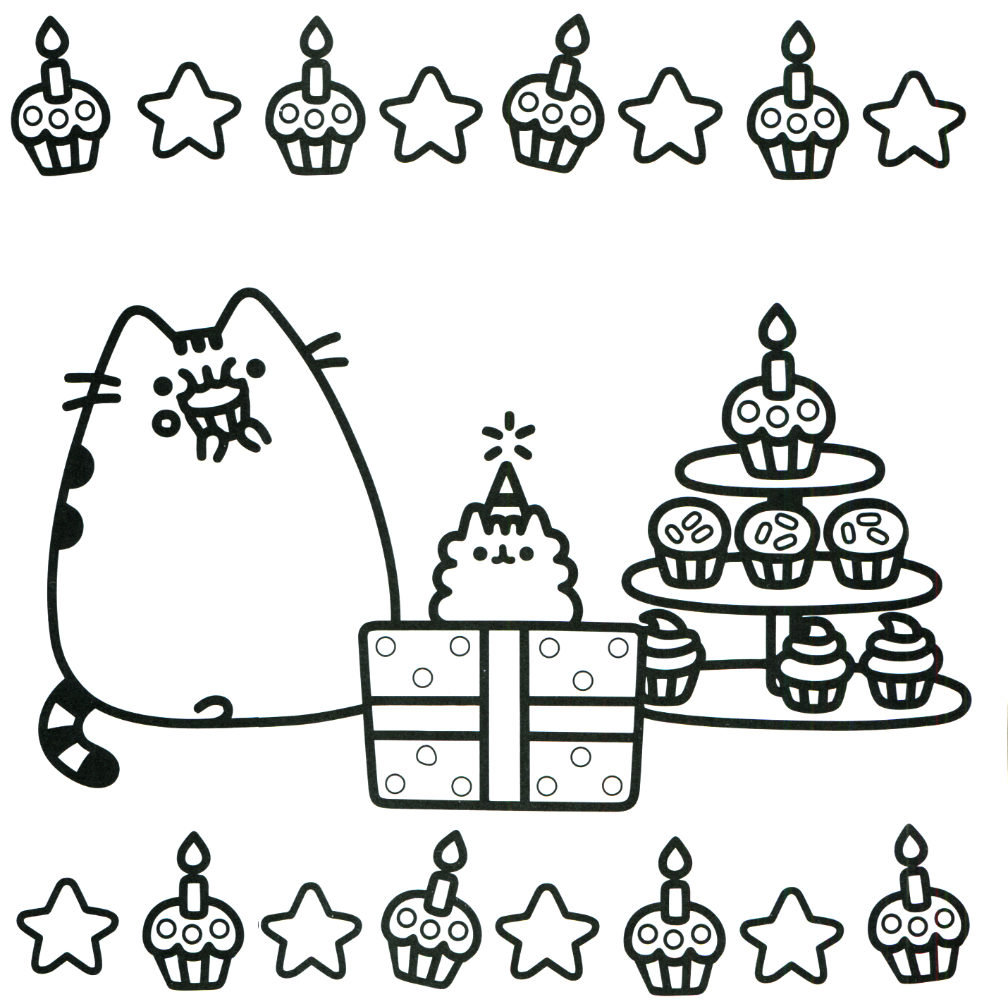 Printable Christmas Cat Coloring Pages With Ornament Diagnostic Immobilier Me