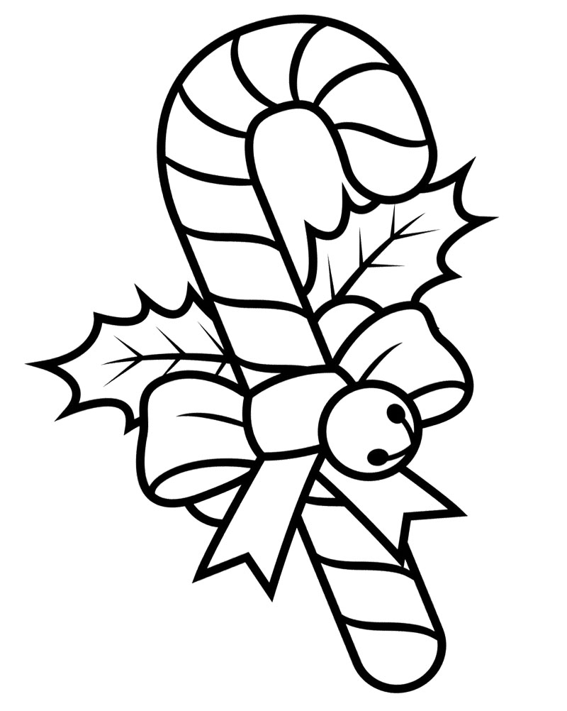 Printable Christmas Coloring Pages Candy Canes With For Kids