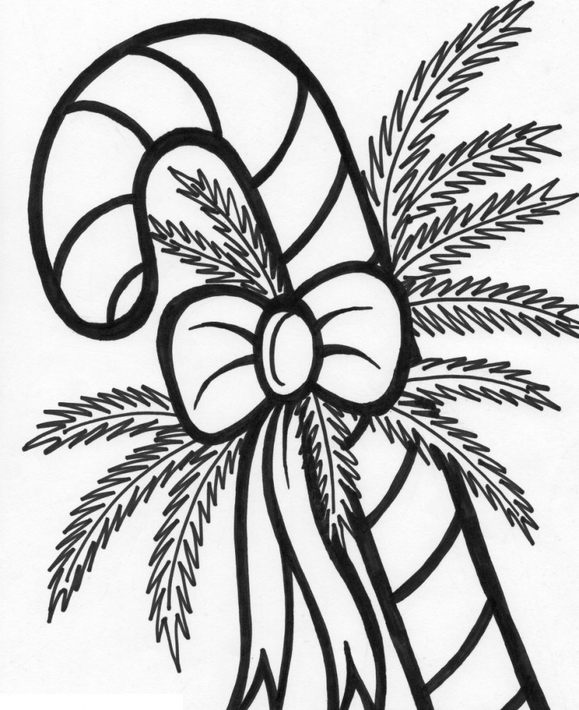 Printable Christmas Coloring Pages Candy Canes With Free Cane For Kids Cool2bKids And