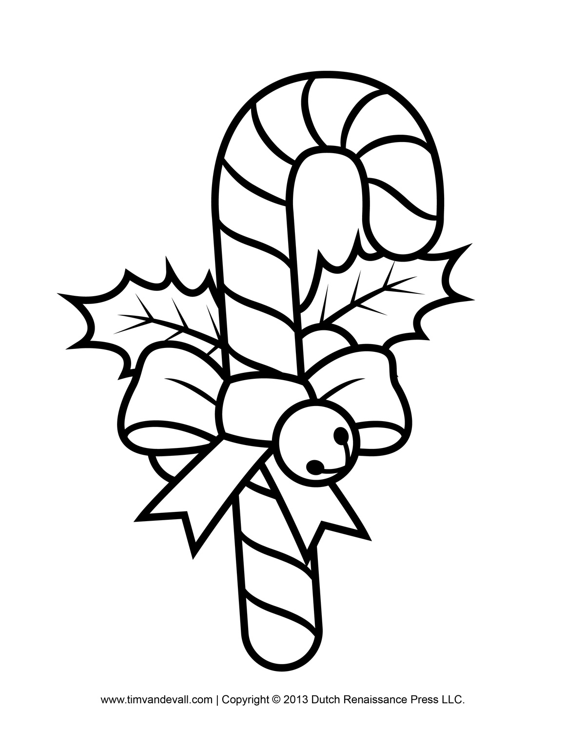 Printable Christmas Coloring Pages Candy Canes With Free Of Library