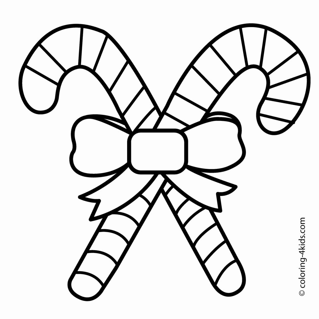 Printable Christmas Coloring Pages Candy Canes With Of Unique