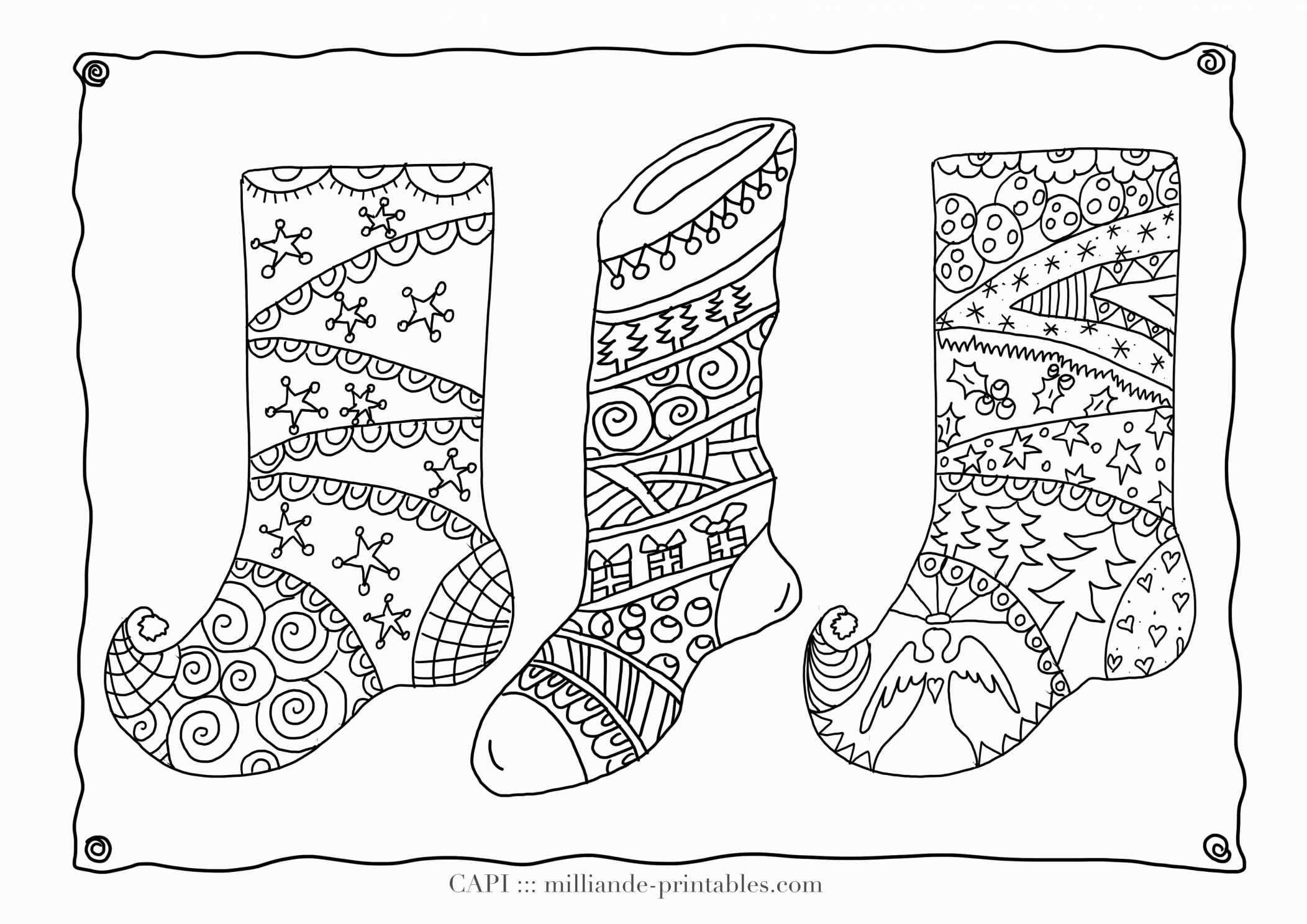 Printable Christmas Coloring Pages Hard With Difficult Page