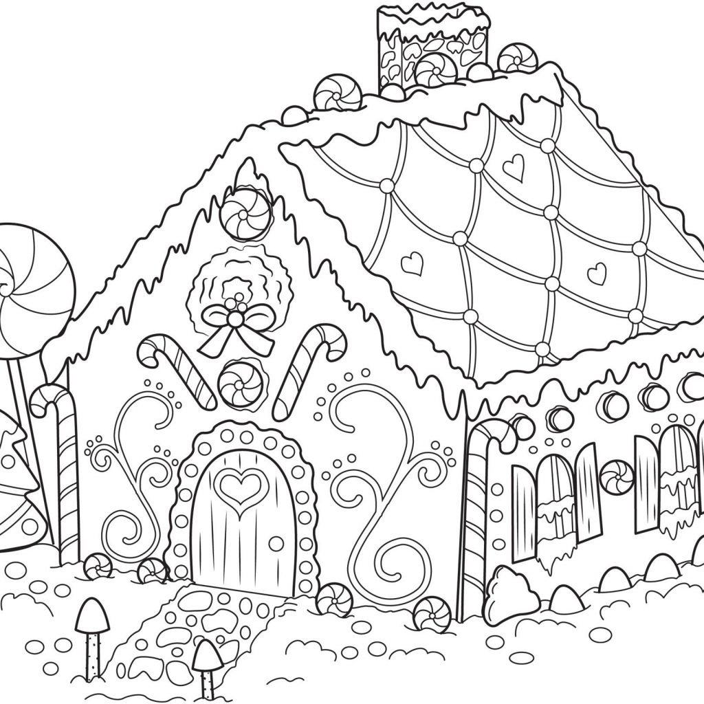 Printable Christmas Coloring Pages Hard With For Adults And Connect Me
