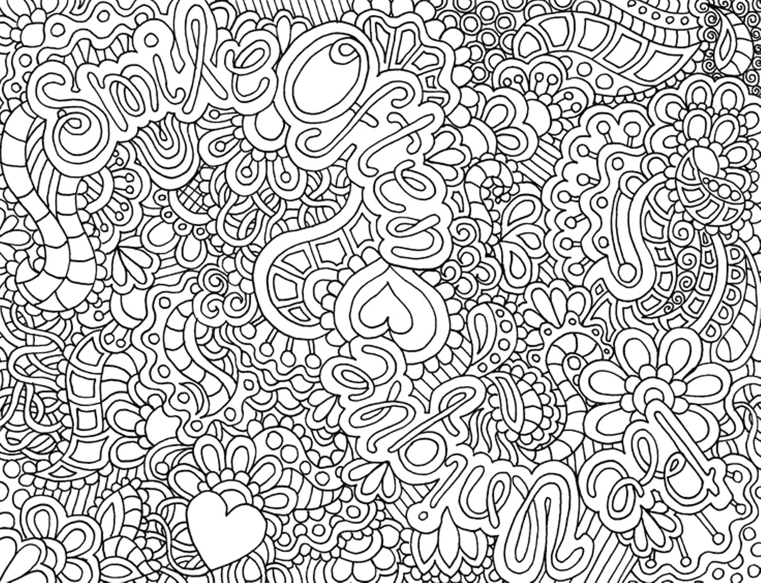 Printable Christmas Coloring Pages Hard With Popular Difficult Free
