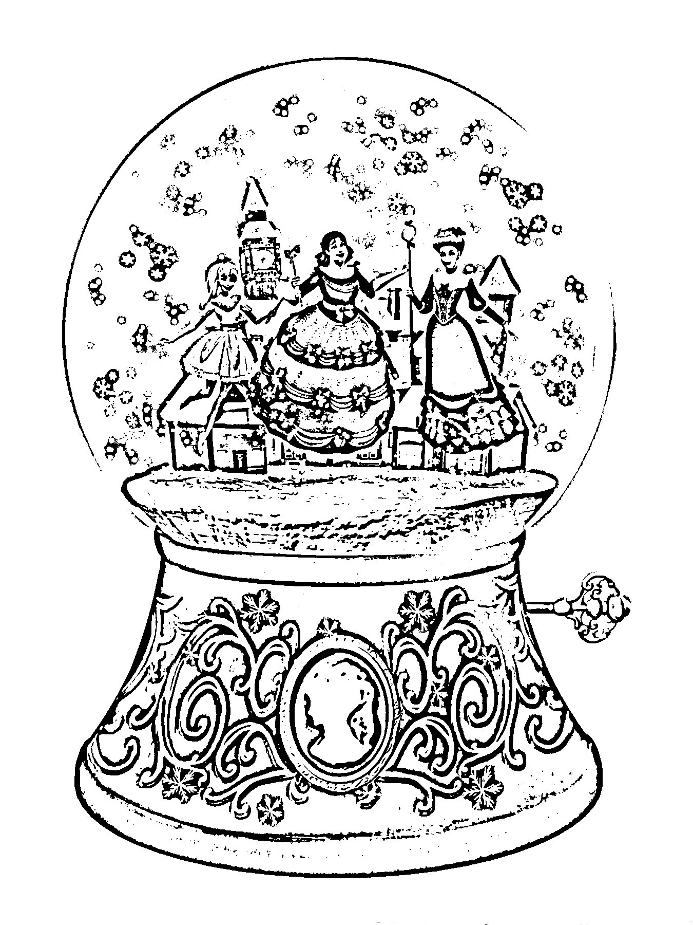 Printable Christmas Coloring Pages Hard With Save Beautiful