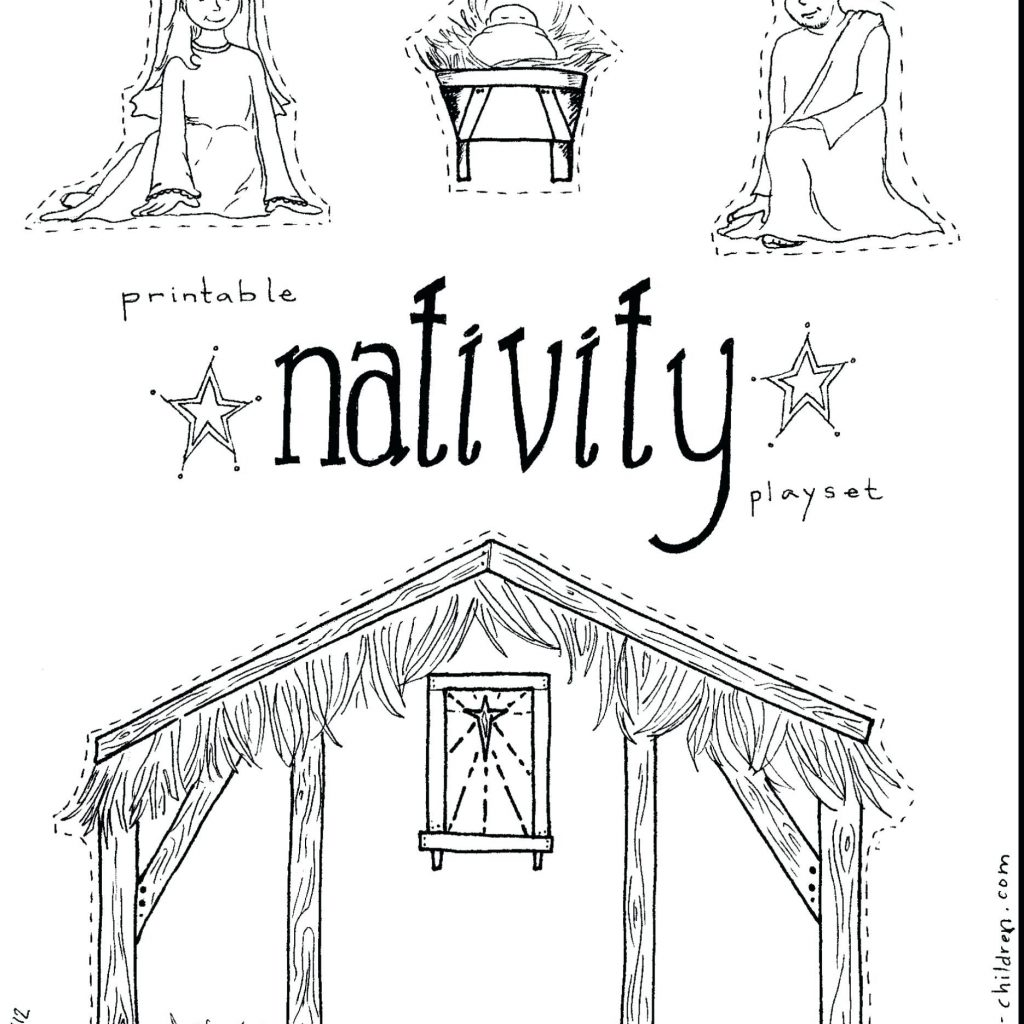 Printable Christmas Coloring Pages Nativity Scene With Of Characters Luxury 35 Awesome