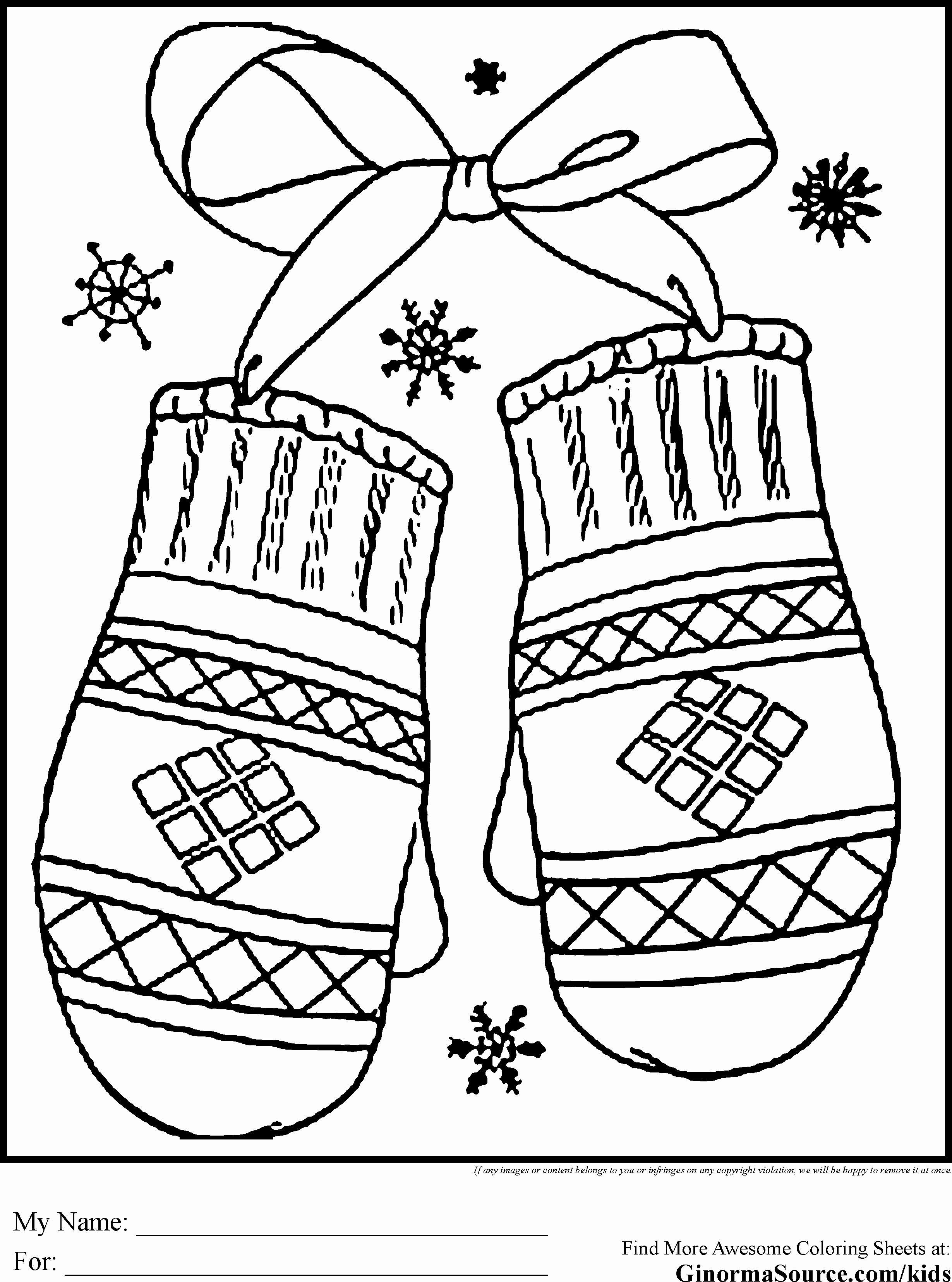 Printable Christmas Coloring Pages With Happy Holidays Free