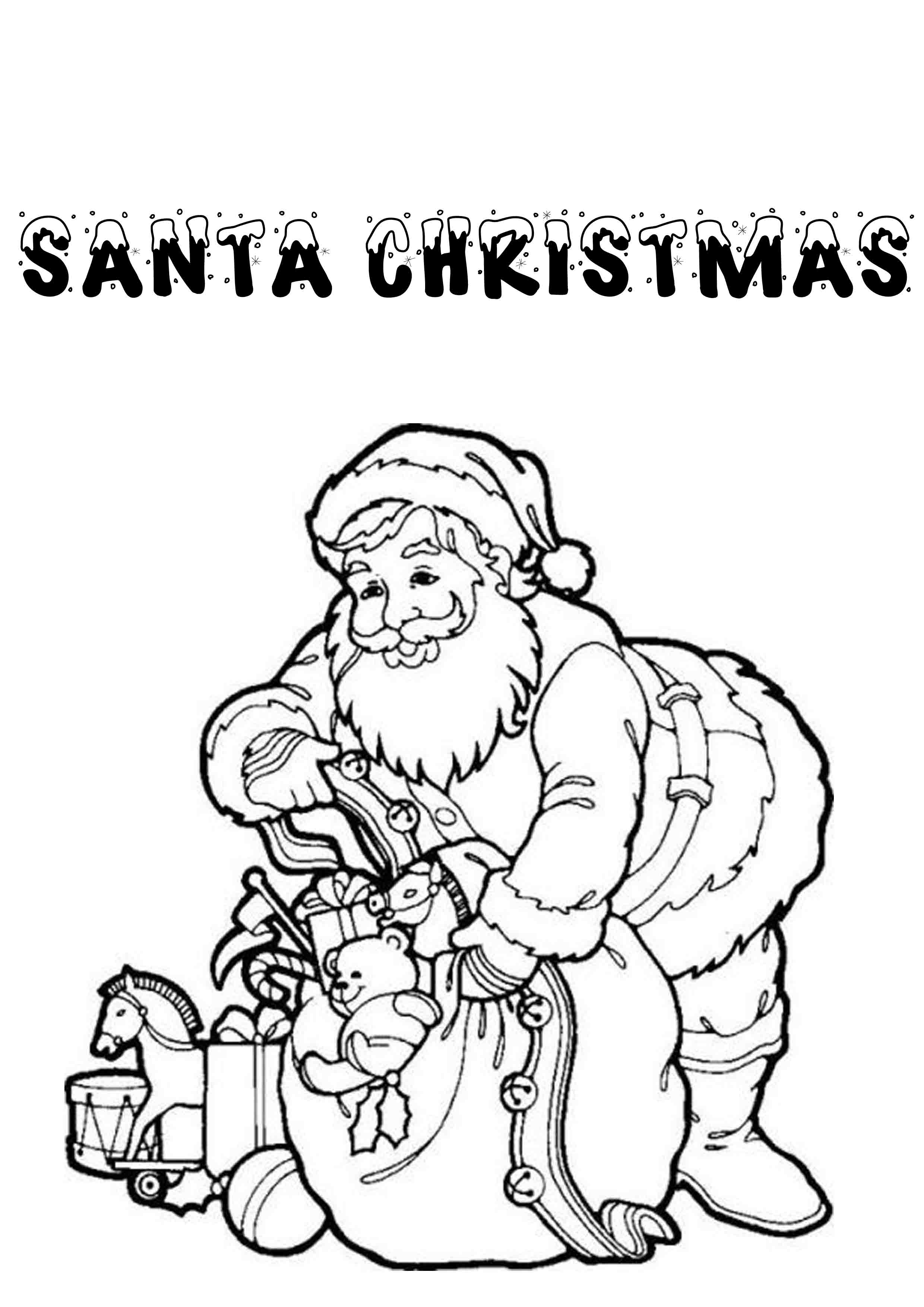 Printable Christmas Coloring Pages With Print Download For Kids
