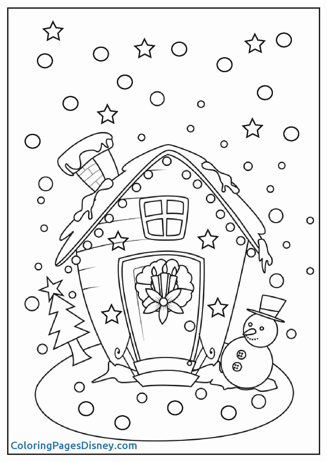 Printable Christmas Coloring Pages With Snowman Awesome