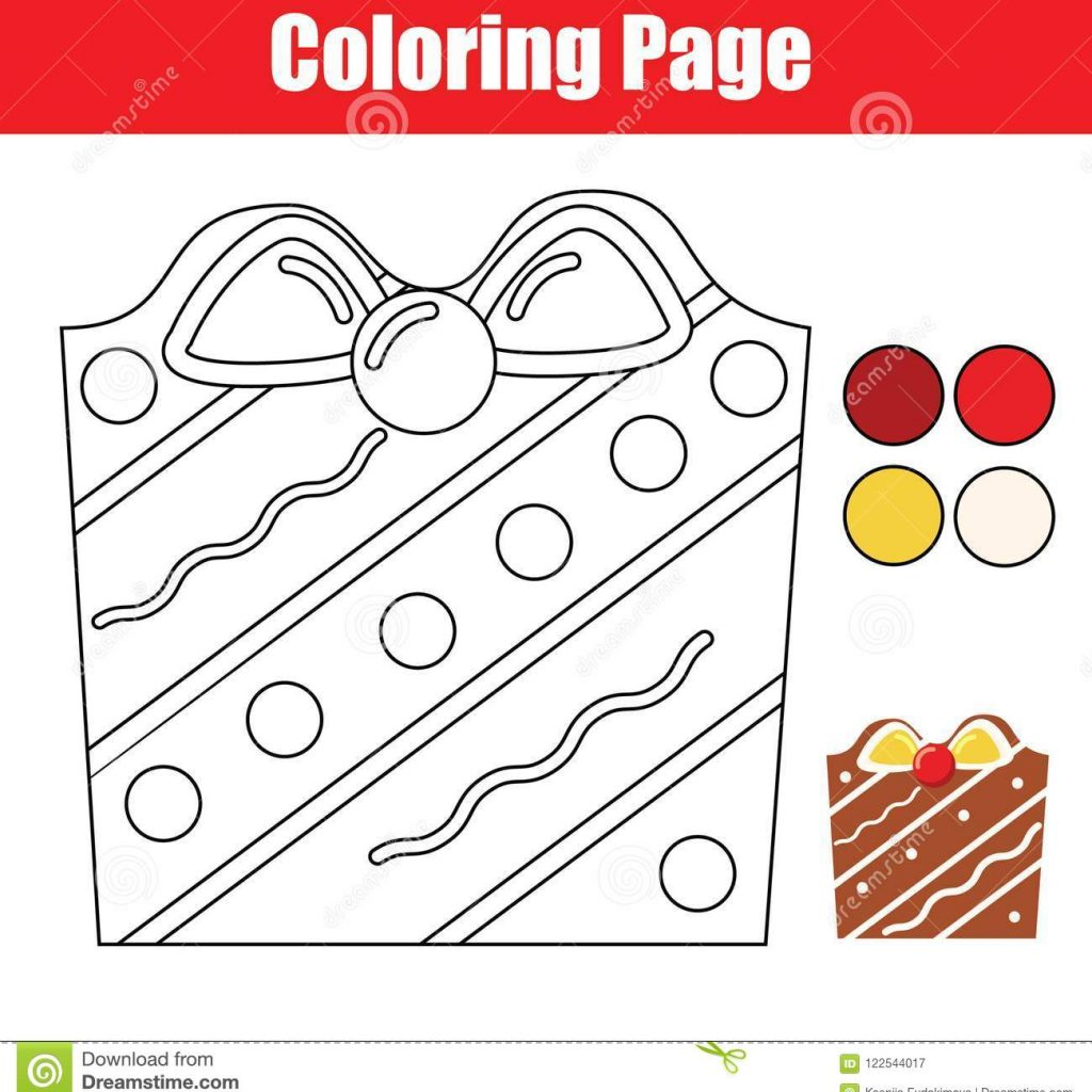 Printable Christmas Cookie Coloring Pages With Page Educational Children Game Color