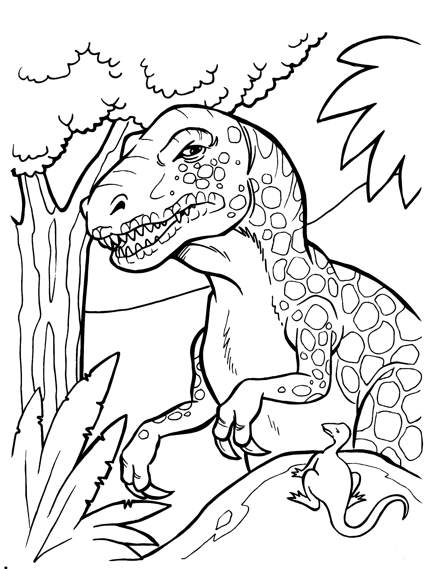 Printable Christmas Dinosaur Coloring Pages With Authentic Gecce