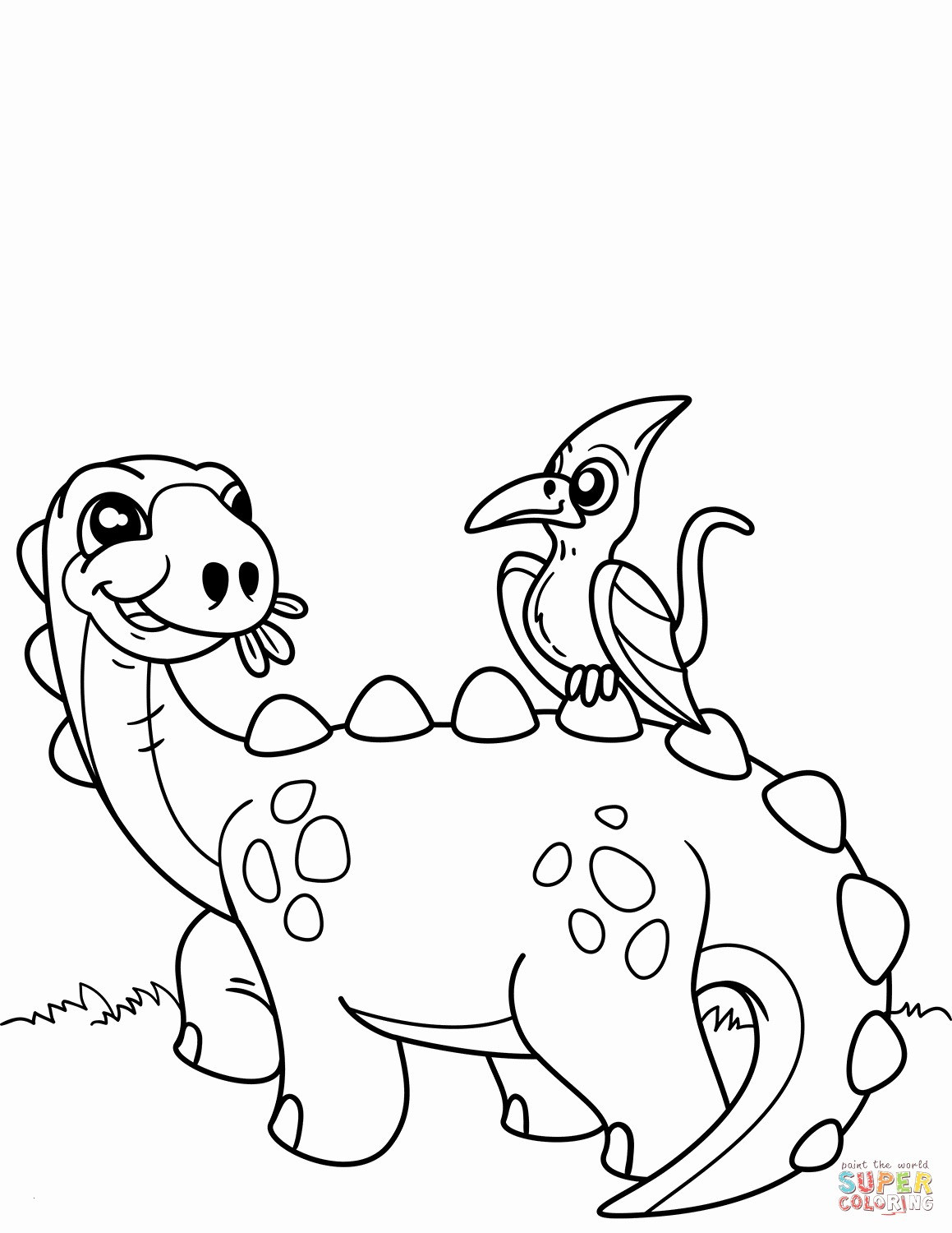 Printable Christmas Dinosaur Coloring Pages With Free Fresh