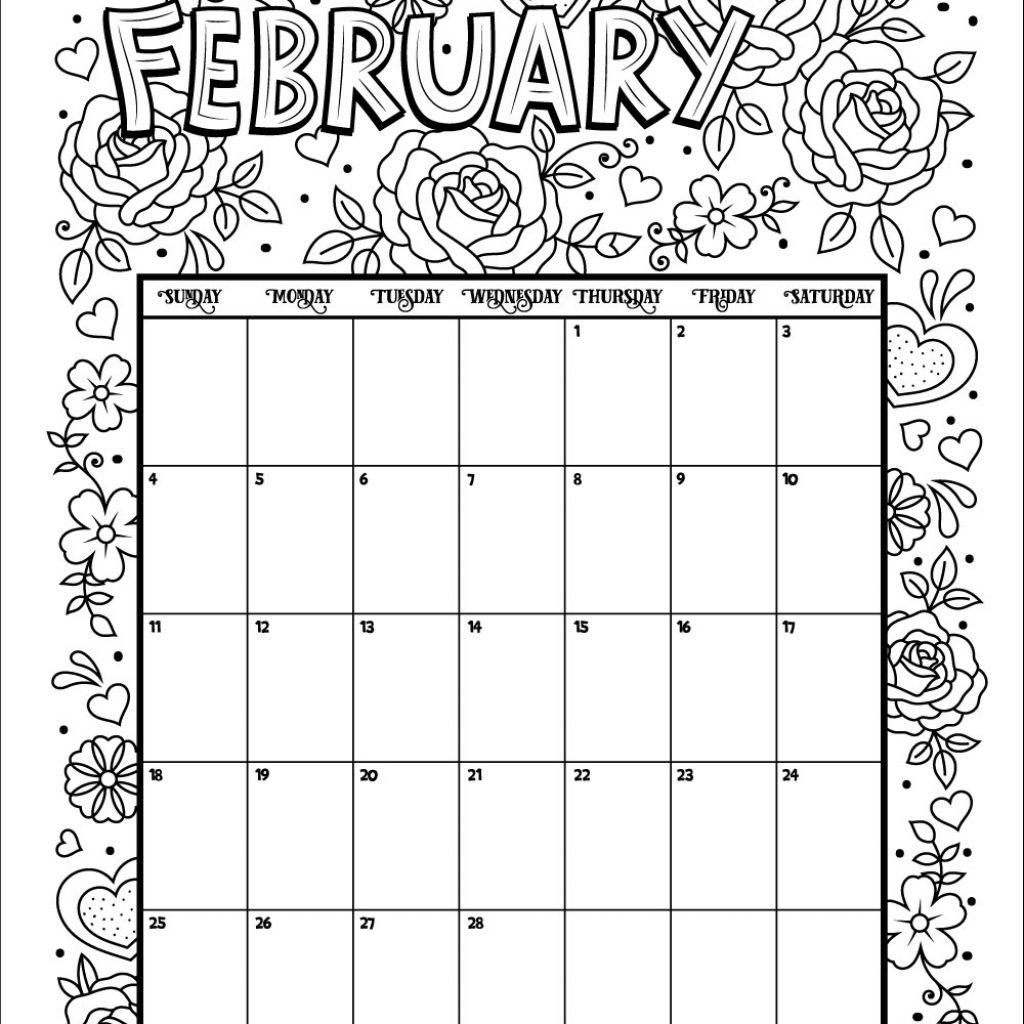 Printable Coloring Calendar 2019 With For And 2018 Woo Jr Kids