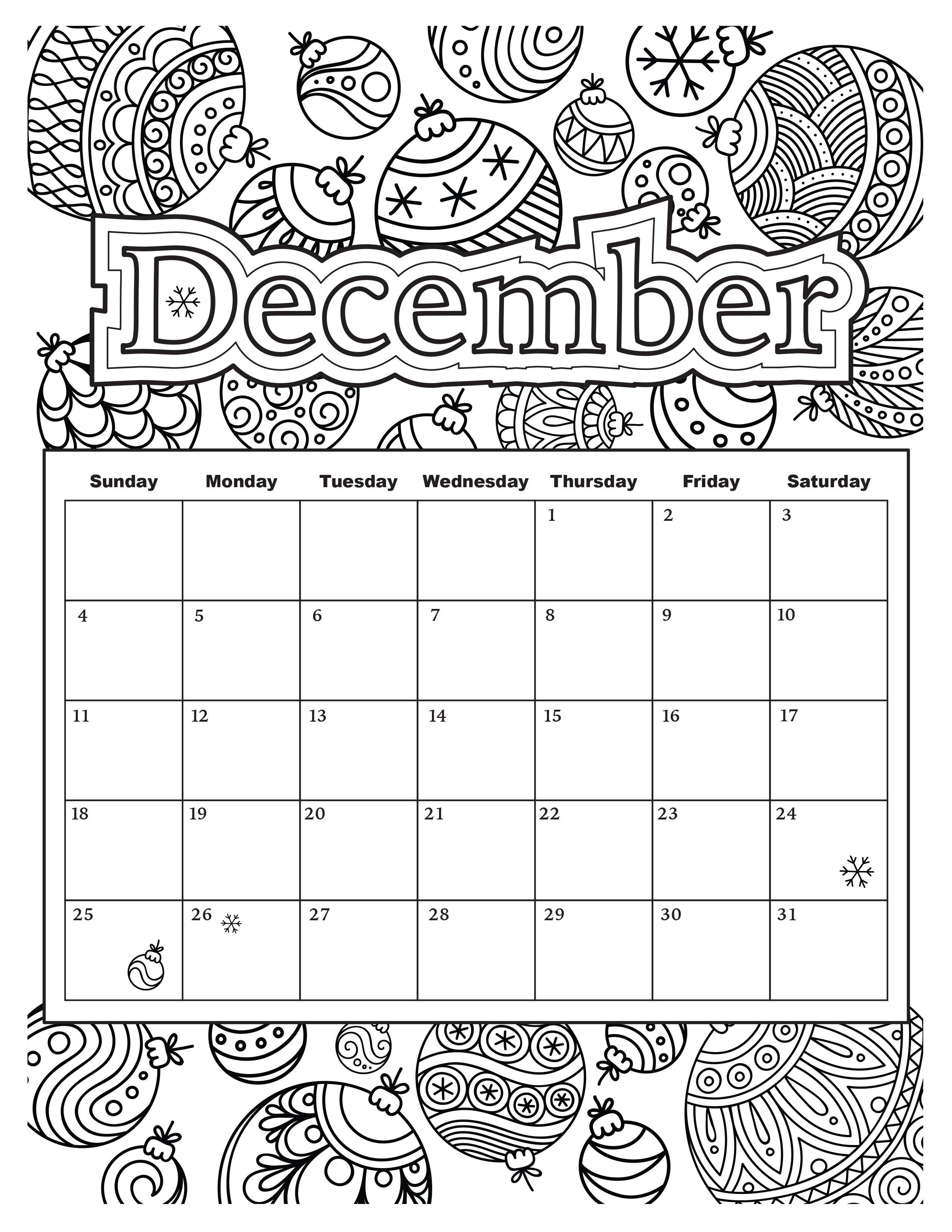 Printable Coloring Calendar 2019 With Free Adult October Sheets