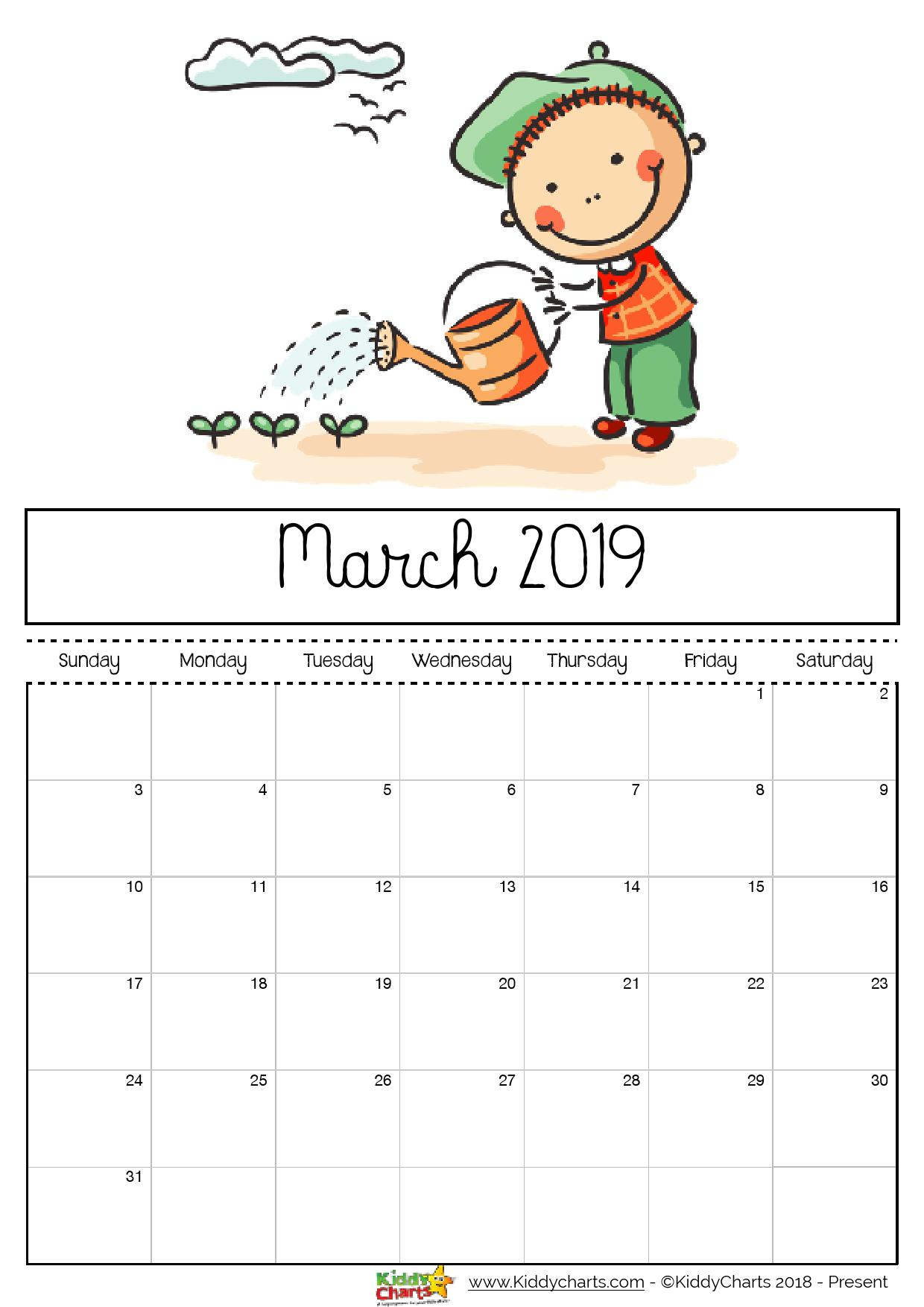 picture regarding Printable Coloring Calendar identify Printable Coloring Calendar 2019 With Totally free For Young children