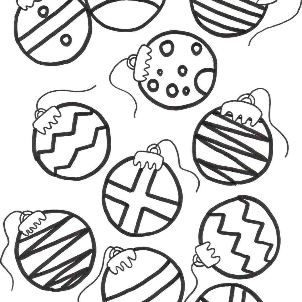 Printable Coloring Pages Christmas Decorations With Color Ornaments