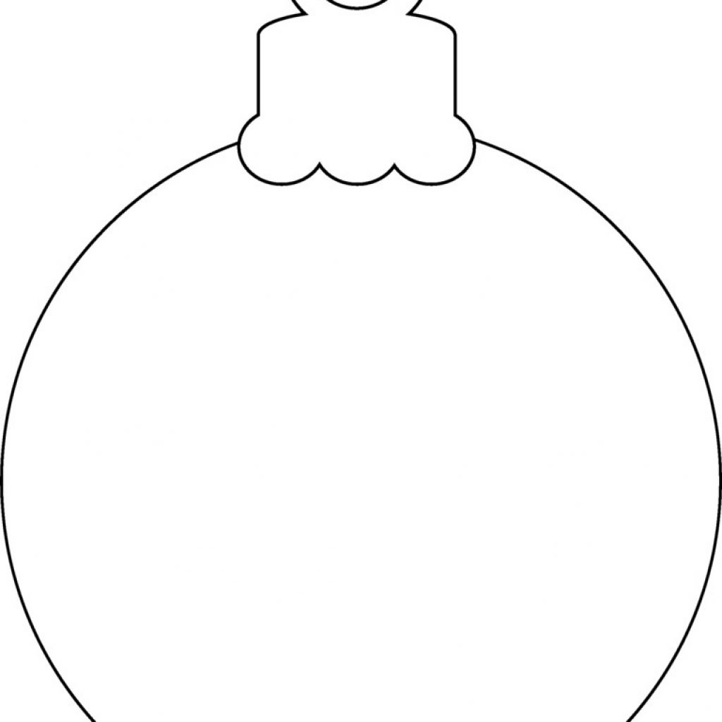 Printable Coloring Pages Christmas Decorations With For Ornaments Free New