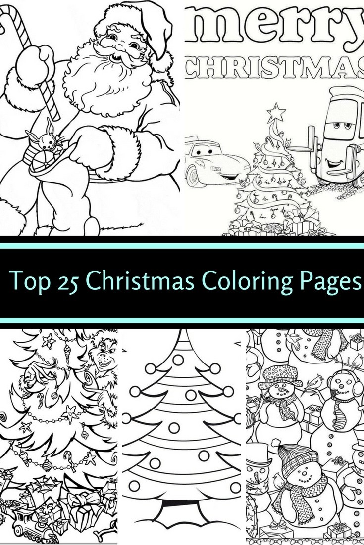 Realistic Christmas Coloring Pages With Top 25 Free