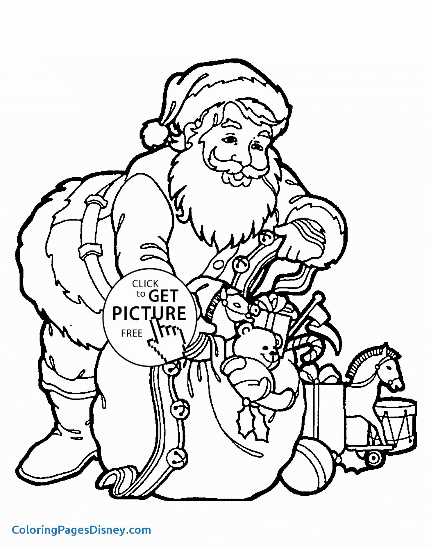 Reindeer Santa Claus Coloring Pages With