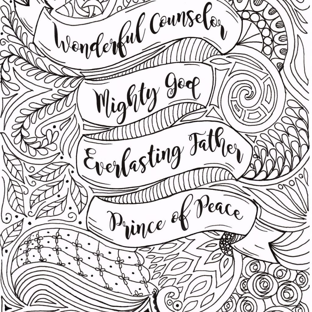 Religious Christmas Coloring Pages For Adults With Adult Page Christian By