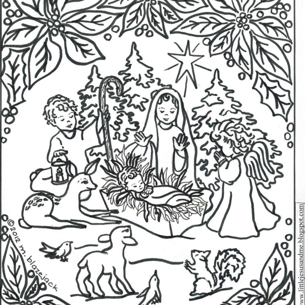 Religious Christmas Coloring Pages For Adults With All About Printable Christian