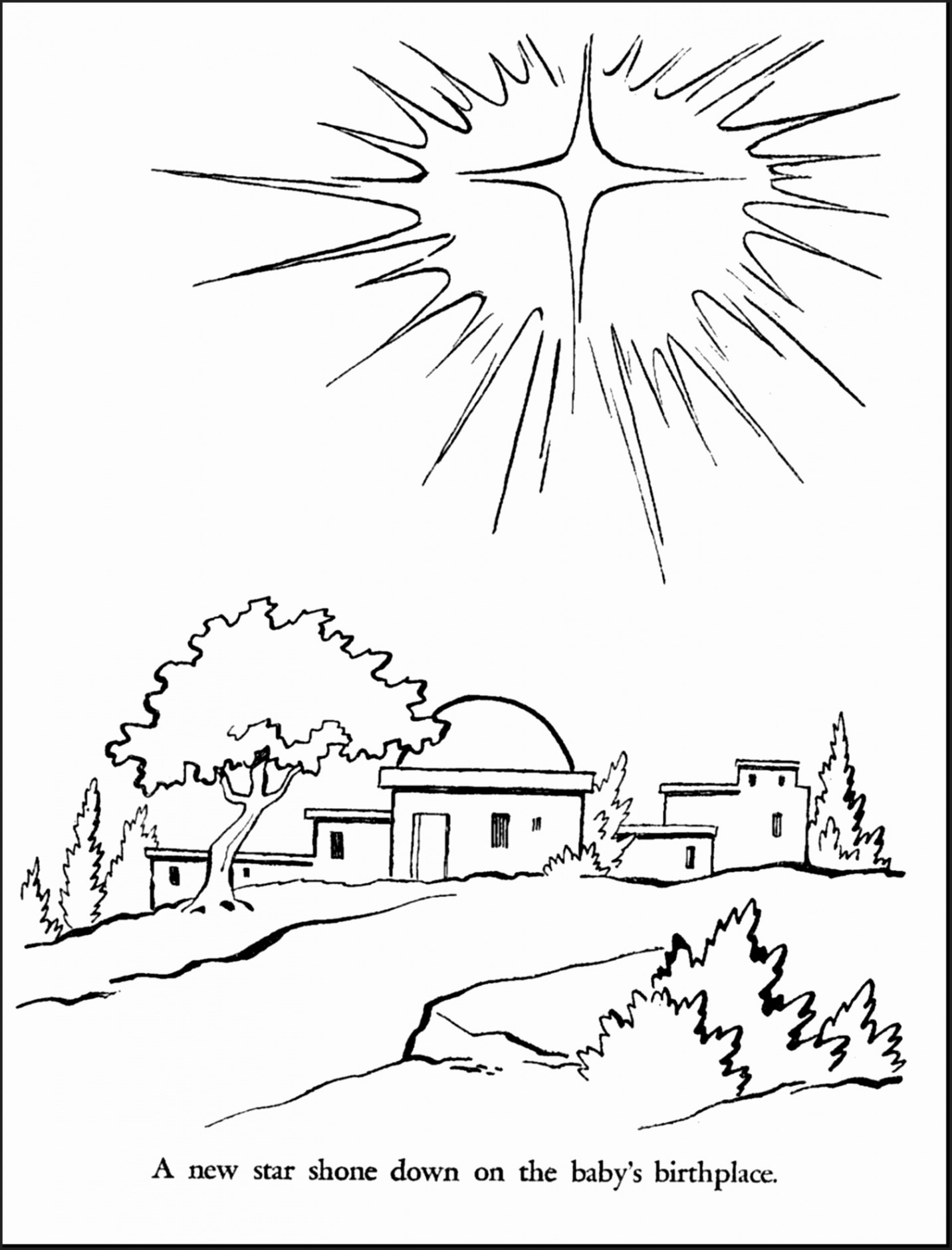 Religious Christmas Coloring Pages Jesus With Printable Baby New