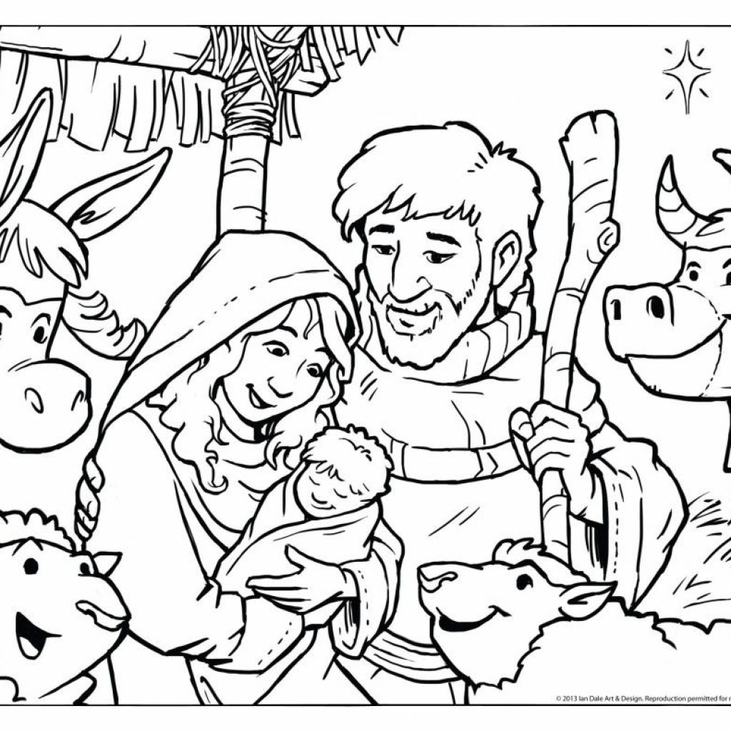 Religious Christmas Coloring Pages To Print With Christian For Preschoolers Design Blog